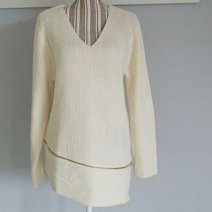 NWT Bar III asymmetrical zipper sweater